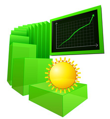 positive weather forecast with business growth vector