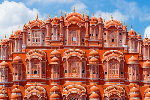 Aluminium Kasteel Hawa Mahal palace (Palace of the Winds) in Jaipur, Rajasthan