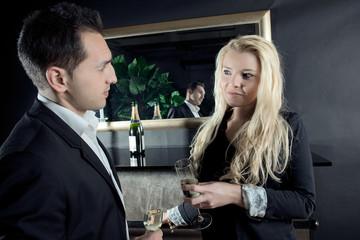 Champagne at a bar