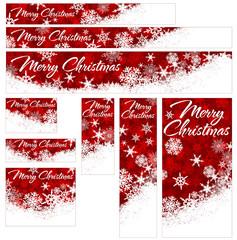 Snowflakes Christmas Web Banners