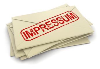 Impressum letters  (clipping path included)