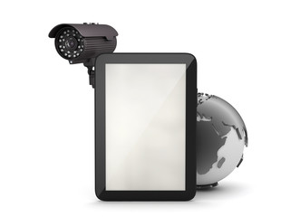 Surveillance camera and tablet computer