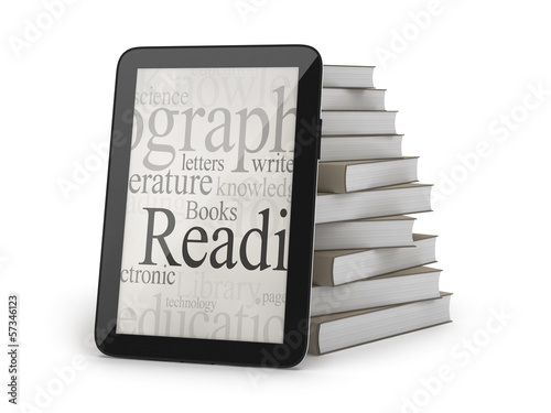 E-books concept illustration