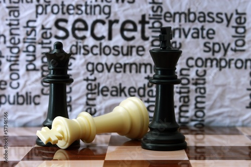 Chess and security concept