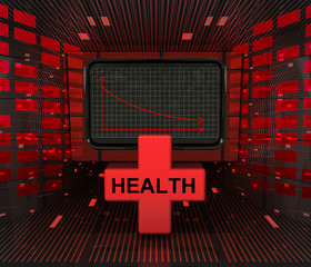 business decrease or negative results in health industry