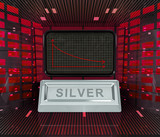 business decrease or negative results of silver merchandise poster