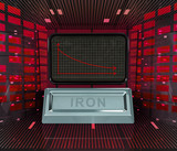 business decrease or negative results of iron merchandise poster