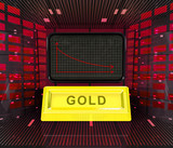 business decrease or negative results of gold merchandise poster