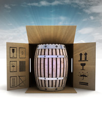 beverage keg product safety delivery with sky flare