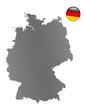 Deutschland-Landkarte
