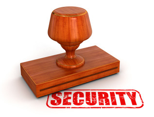 Rubber Stamp security  (clipping path included)