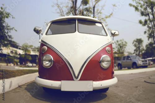 Retro Volkswagen car on the street - 57348375
