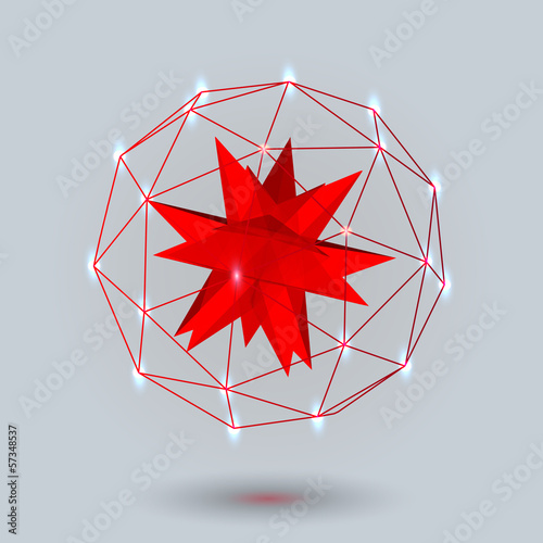 Geometric background 3d geometric abstract art geometric lines