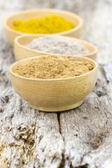 spices - cardamon, cinnamon, curry