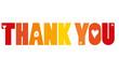 Thank you in gelb rot orange - Vektor
