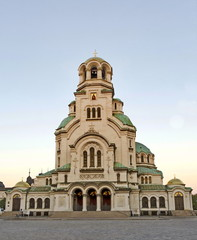 View of Alexander Nevsky  Cathedral in Sofia, Bulgaria