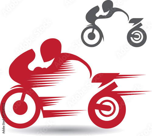 2 images of motocyclists