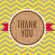 Thank you greeting card, geometric zigzag pattern
