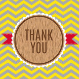 Thank you greeting card, geometric zigzag pattern