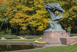 Fototapety Famous Polish pianist - Frederic Chopin monument in Warsaw