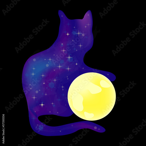 the cat with the moon