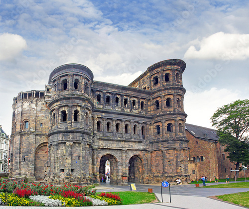 The Porta Nigra (Black Gate) in Trier, Germany, UNESCO WH