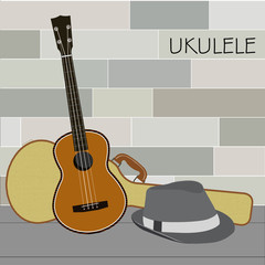 Ukulele and Panama Hat