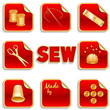 Sewing Stickers, tailoring, needlework, do it yourself projects