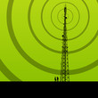 Telecommunications radio tower or mobile phone base station conc