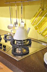 Modern cooker and tea kettle