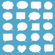 Vector blank empty white speech bubbles