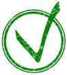 Grüner Haken Stempel  #131018-svg05