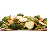 Broccoli Salad with Cucumbers and Carrots
