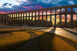 Majestic Sunset Image of the Ancient Aqueduct in Segovia Spain - 57353318