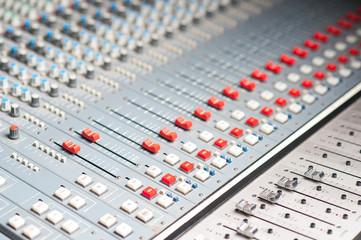 Detailed professional audio mixer