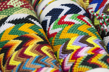 Colorful image of bracelets