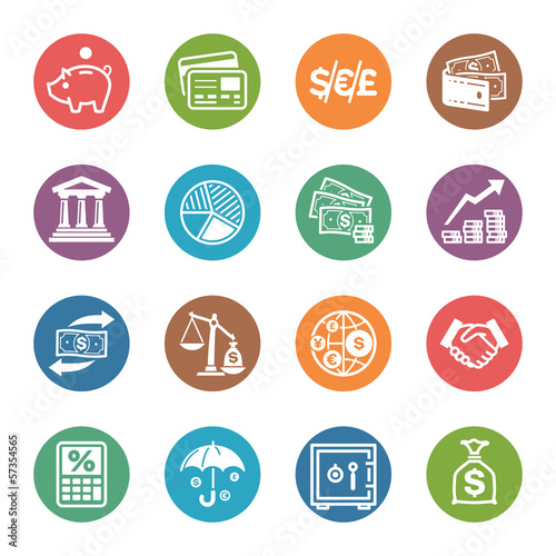 Finance Icons - Dot Series