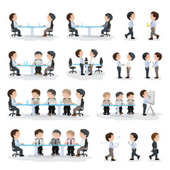 Business Peoples Isolated On White Background