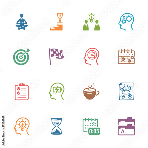 Productive at Work Icons - Colored Series