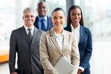 Fototapety group of businesspeople standing together