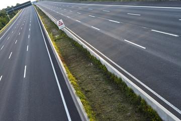 autofreie Autobahn