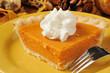 Sweet potato pie closeup