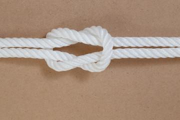 nylon rope on wooden background