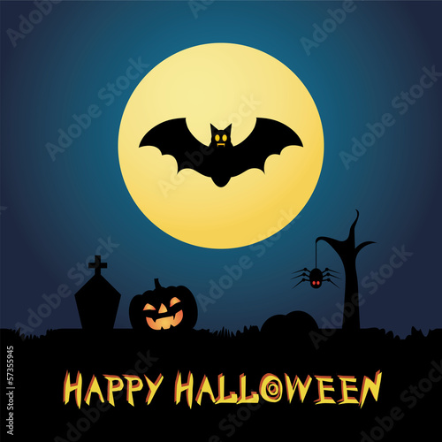 background of halloween party, vector illustration