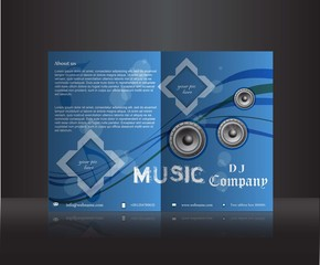 Music d.j. company flyer