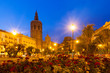 Plaza de la Reina in evening. Valencia, Spain