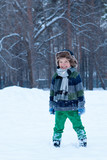 Portrait of happy child, winter,