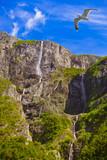 Waterfall in Fjord Sognefjord - Norway