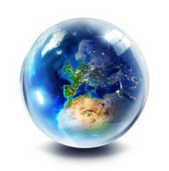 drop globe - Europe