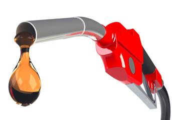 Tropfen Benzin
